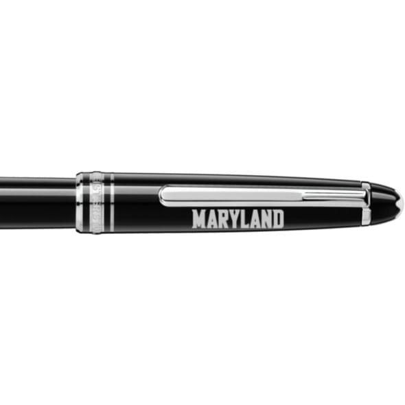 University of Maryland Montblanc Meisterstück Classique Rollerball Pen in Platinum - Image 2