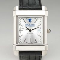 Seton Hall Men's Collegiate Watch with Leather Strap