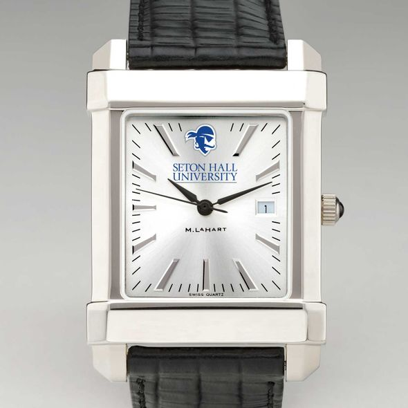Seton Hall Men's Collegiate Watch with Leather Strap - Image 1