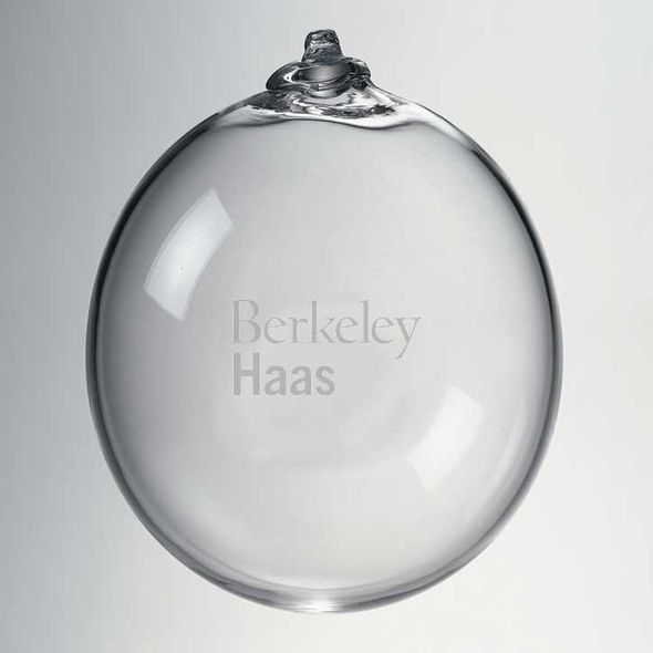 Berkeley Haas Glass Ornament by Simon Pearce - Image 2