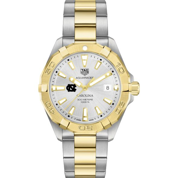University of North Carolina Men's TAG Heuer Two-Tone Aquaracer - Image 2