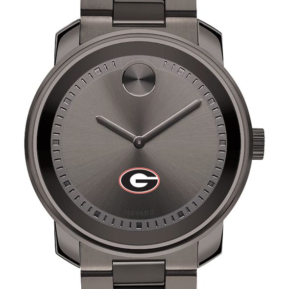 University of Georgia Men's Movado BOLD Gunmetal Grey - Image 1