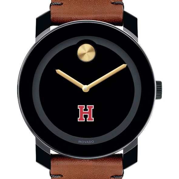 Harvard University Men's Movado BOLD with Brown Leather Strap