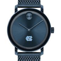 UNC Men's Movado Bold Blue with Mesh Bracelet