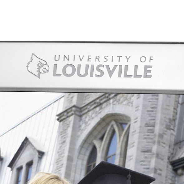 University of Louisville Polished Pewter 8x10 Picture Frame - Image 2