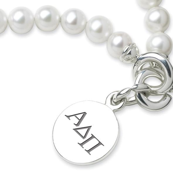 Alpha Delta Pi Pearl Bracelet with Sterling Charm - Image 2