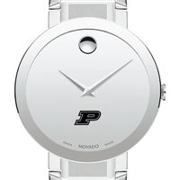 Purdue University Men's Movado Sapphire Museum with Bracelet