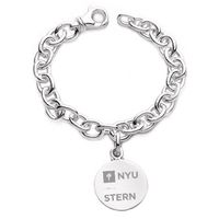 NYU Stern Sterling Silver Charm Bracelet