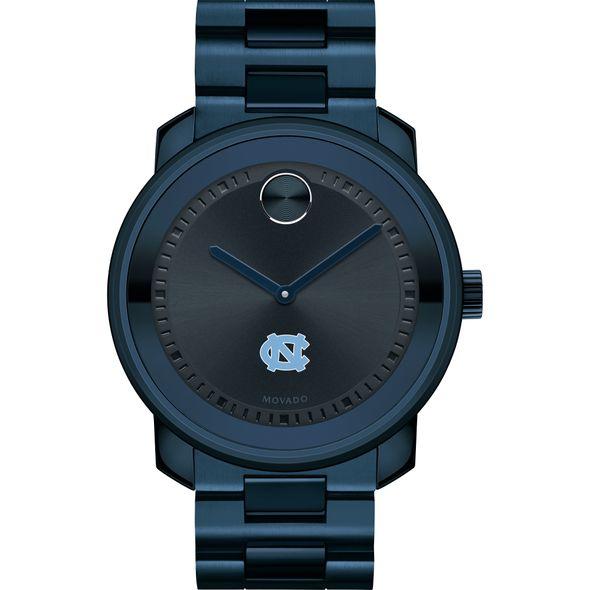 University of North Carolina Men's Movado BOLD Blue Ion with Bracelet - Image 2