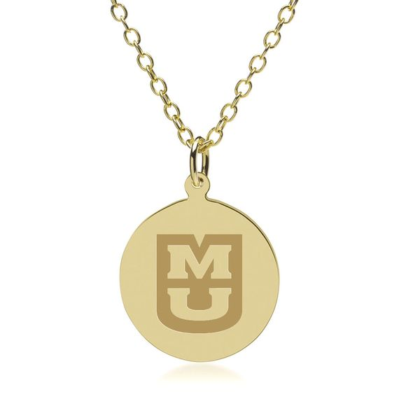University of Missouri 14K Gold Pendant & Chain
