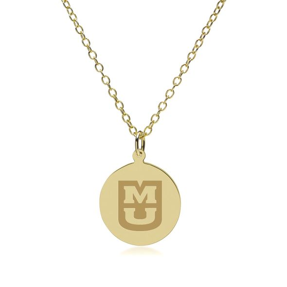 University of Missouri 14K Gold Pendant & Chain - Image 2