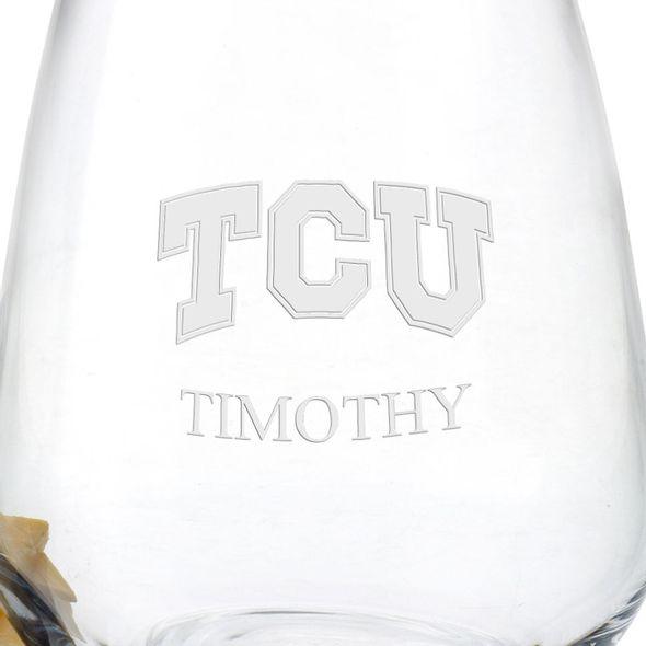 Texas Christian University Stemless Wine Glasses - Set of 4 - Image 3