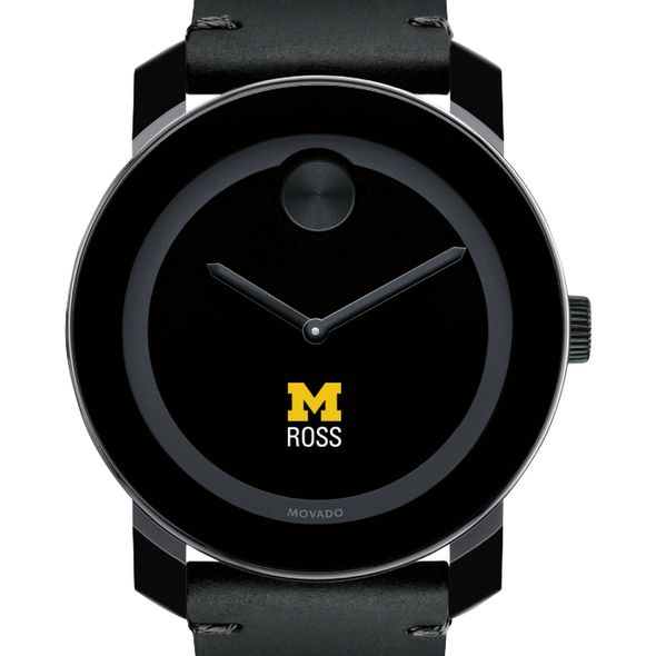 Michigan Ross Men's Movado BOLD with Leather Strap