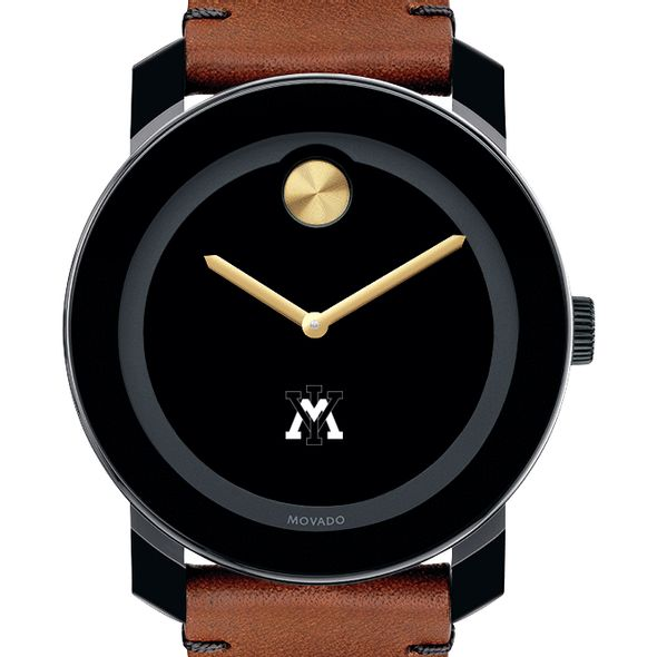 Virginia Military Institute Men's Movado BOLD with Brown Leather Strap
