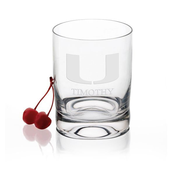 University of Miami Tumbler Glasses - Set of 2 - Image 1