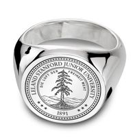 Stanford Sterling Silver Round Signet Ring