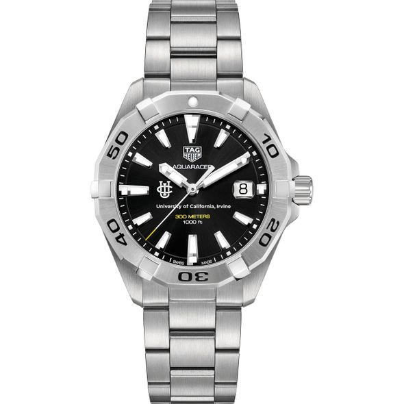 UC Irvine Men's TAG Heuer Steel Aquaracer with Black Dial - Image 2