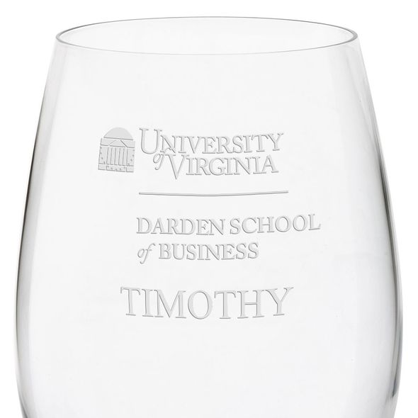 UVA Darden Red Wine Glasses - Set of 4 - Image 3