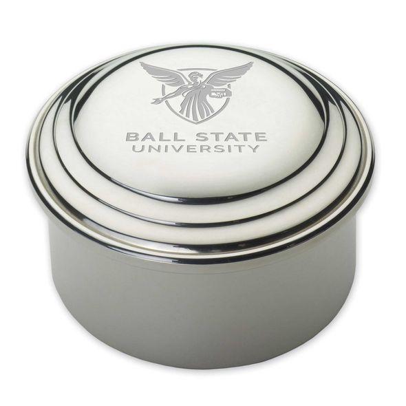 Ball State Pewter Keepsake Box - Image 1