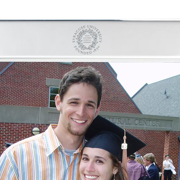 Syracuse University Polished Pewter 5x7 Picture Frame - Image 2