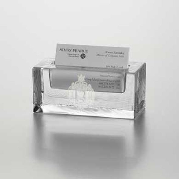 USNA Glass Business Cardholder by Simon Pearce