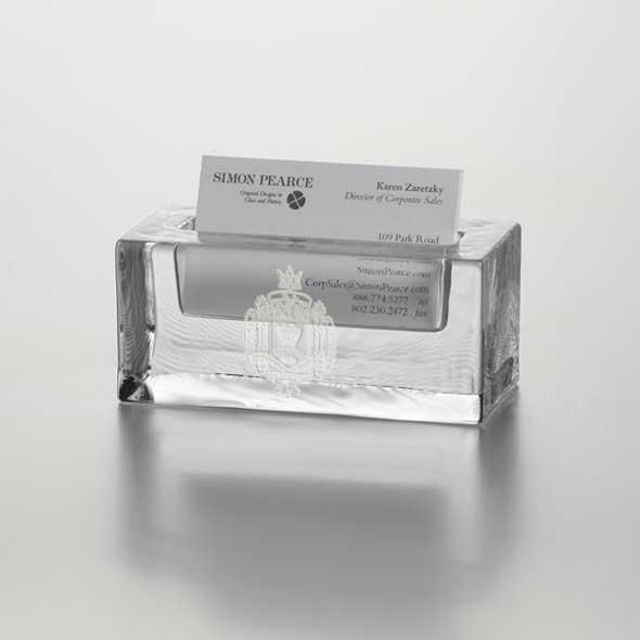 USNA Glass Business Cardholder by Simon Pearce - Image 2