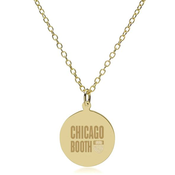 Chicago Booth 18K Gold Pendant & Chain - Image 2