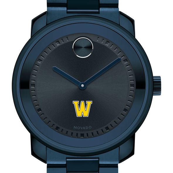 Williams College Men's Movado BOLD Blue Ion with Bracelet