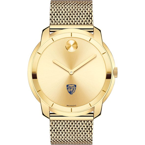 Johns Hopkins University Men's Movado Gold Bold 44 - Image 2