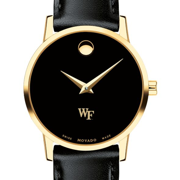 Wake Forest University Women's Movado Gold Museum Classic Leather