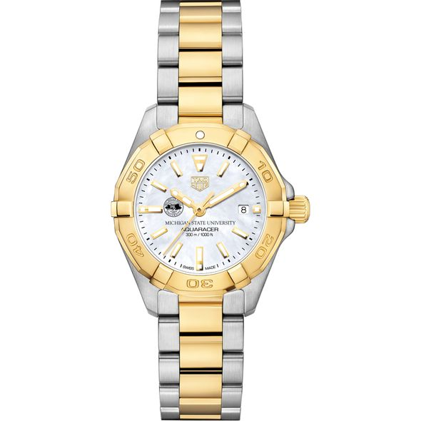 Michigan State University TAG Heuer Two-Tone Aquaracer for Women - Image 2