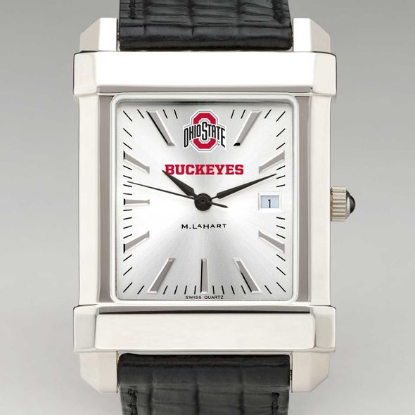 Ohio State Men's Collegiate Watch with Leather Strap - Image 1