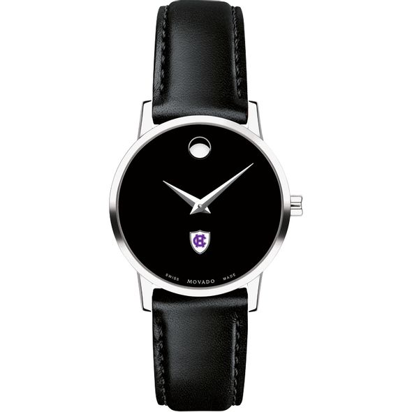 Holy Cross Women's Movado Museum with Leather Strap - Image 2