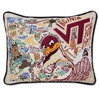 Virginia Tech Embroidered Pillow