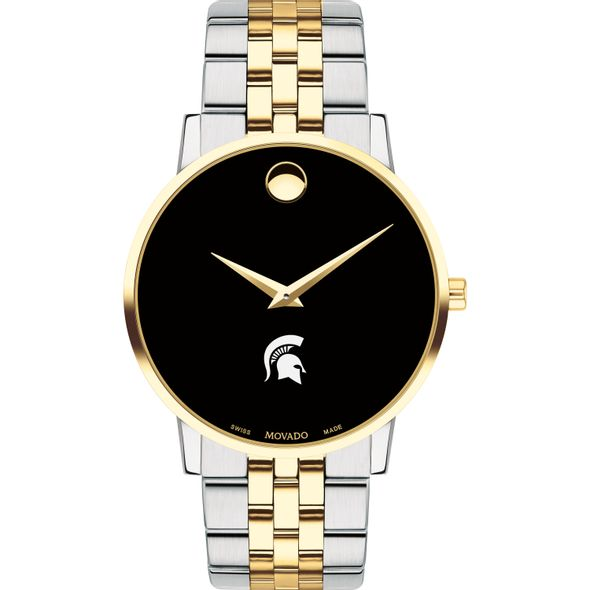 Michigan State Men's Movado Two-Tone Museum Classic Bracelet - Image 2