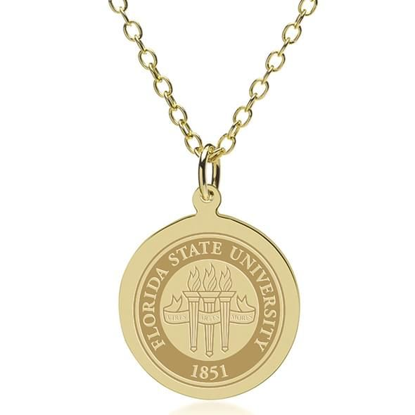 Florida State 14K Gold Pendant & Chain - Image 1