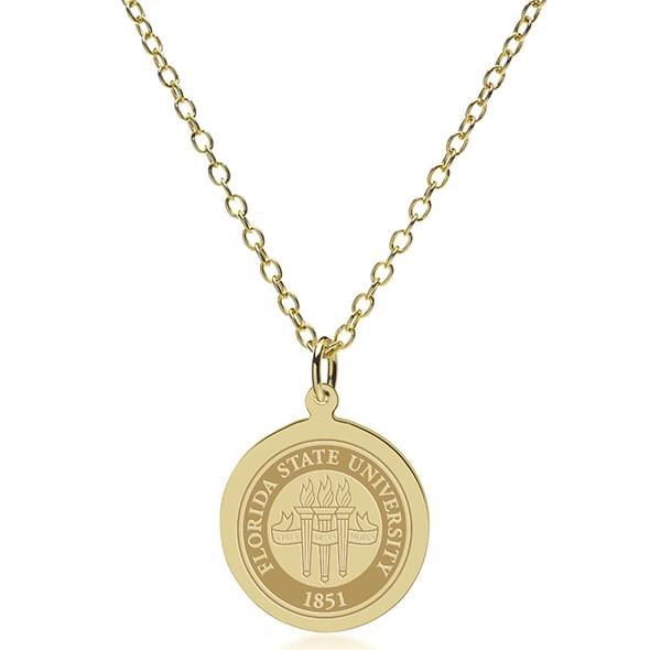 Florida State 14K Gold Pendant & Chain - Image 2