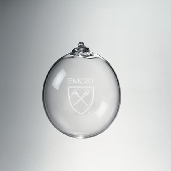 Emory Glass Ornament by Simon Pearce - Image 1