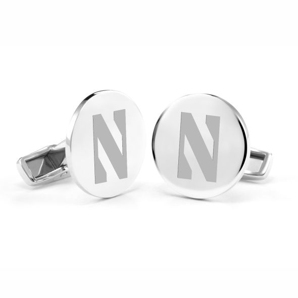 Northwestern University Cufflinks in Sterling Silver
