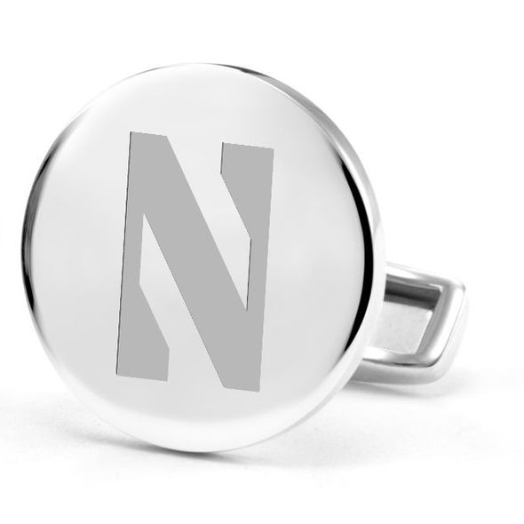 Northwestern University Cufflinks in Sterling Silver - Image 2
