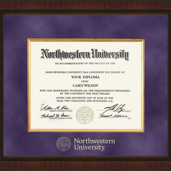 Northwestern Excelsior Diploma Frame - Image 2