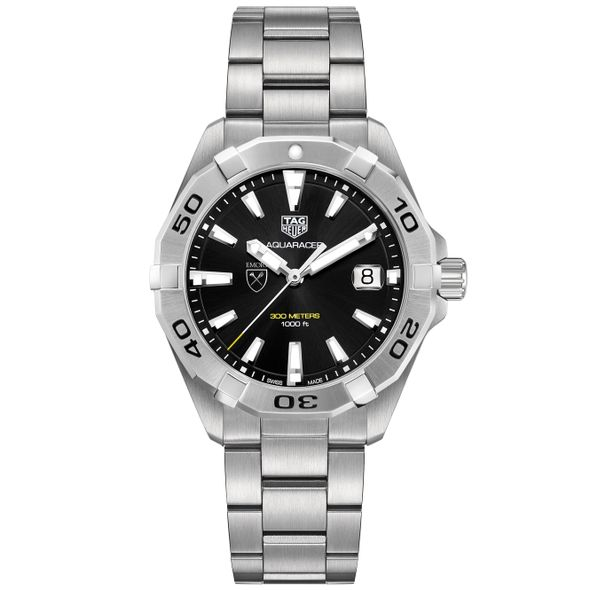Emory University Men's TAG Heuer Steel Aquaracer with Black Dial - Image 2