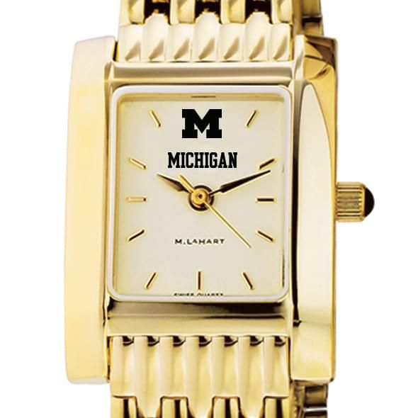 Michigan Women's Gold Quad Watch with Bracelet
