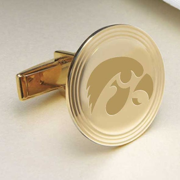 University of Iowa 14K Gold Cufflinks - Image 2