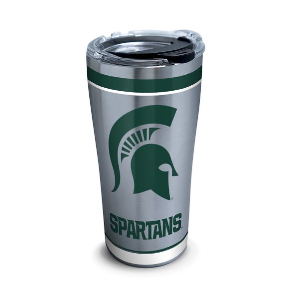 Michigan State 20 oz. Stainless Steel Tervis Tumblers with Hammer Lids - Set of 2