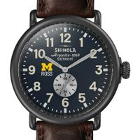 Michigan Ross Shinola Watch, The Runwell 47mm Midnight Blue Dial