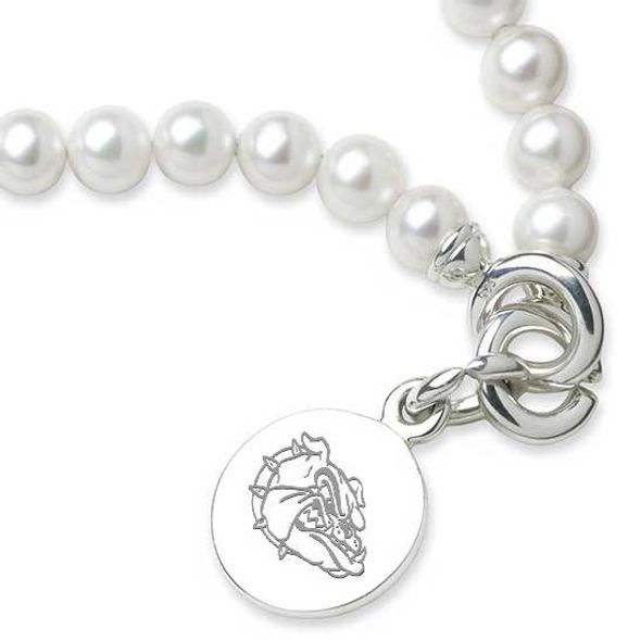 Gonzaga Pearl Bracelet with Sterling Silver Charm - Image 2