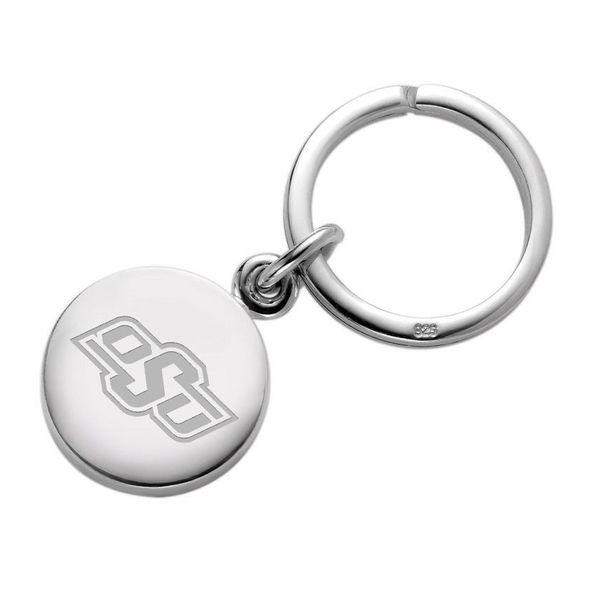 Oklahoma State University Sterling Silver Insignia Key Ring