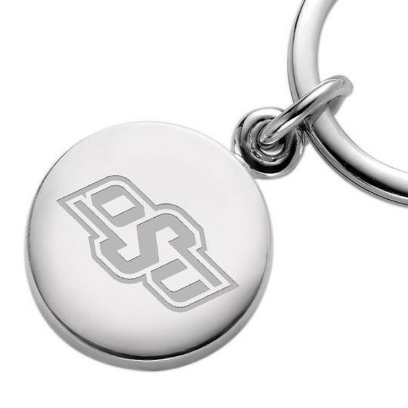 Oklahoma State University Sterling Silver Insignia Key Ring - Image 2