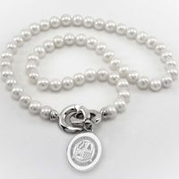 Loyola Pearl Necklace with Sterling Silver Charm